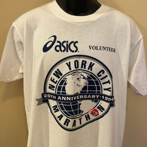 1994 New York City Marathon Shirt Asics NYC Run